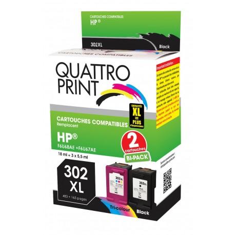 Pack 2 cartouches Quattro Print 302XL