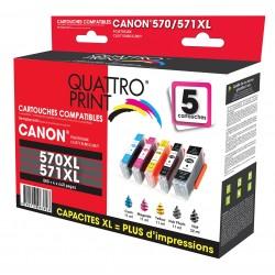Pack 5 cartouches d'encre compatible Canon PGI-570 XL / CLI-571XL
