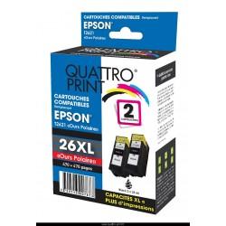 Pack 2 cartouches noires compatible T2621