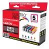 Pack 5 cartouches Quattro Print compatible Canon PGI-550XL / CLI-551XL
