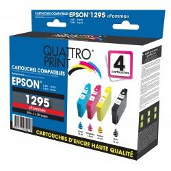 Pack 4 cartouches d'encre compatible T1295