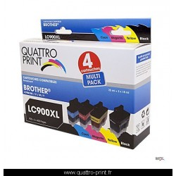 Pack 4 cartouches d'encre compatible LC-900