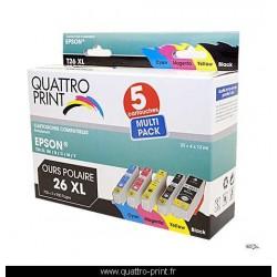 Pack 5 cartouches d'encre compatible T2636