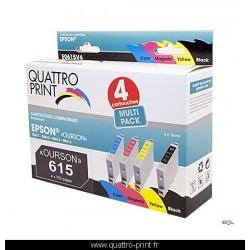 Pack 4 cartouches d'encre compatible T0615