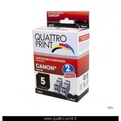 Pack 2 cartouches d'encre noires compatible Canon PGI-5
