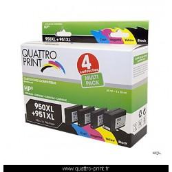 Pack 4 cartouches d'encre compatible HP 950XL 951XL
